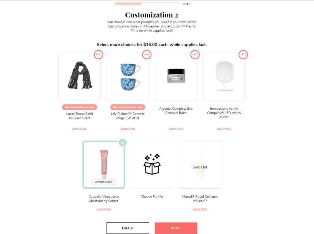 FabFitFun WI20 Customization 2