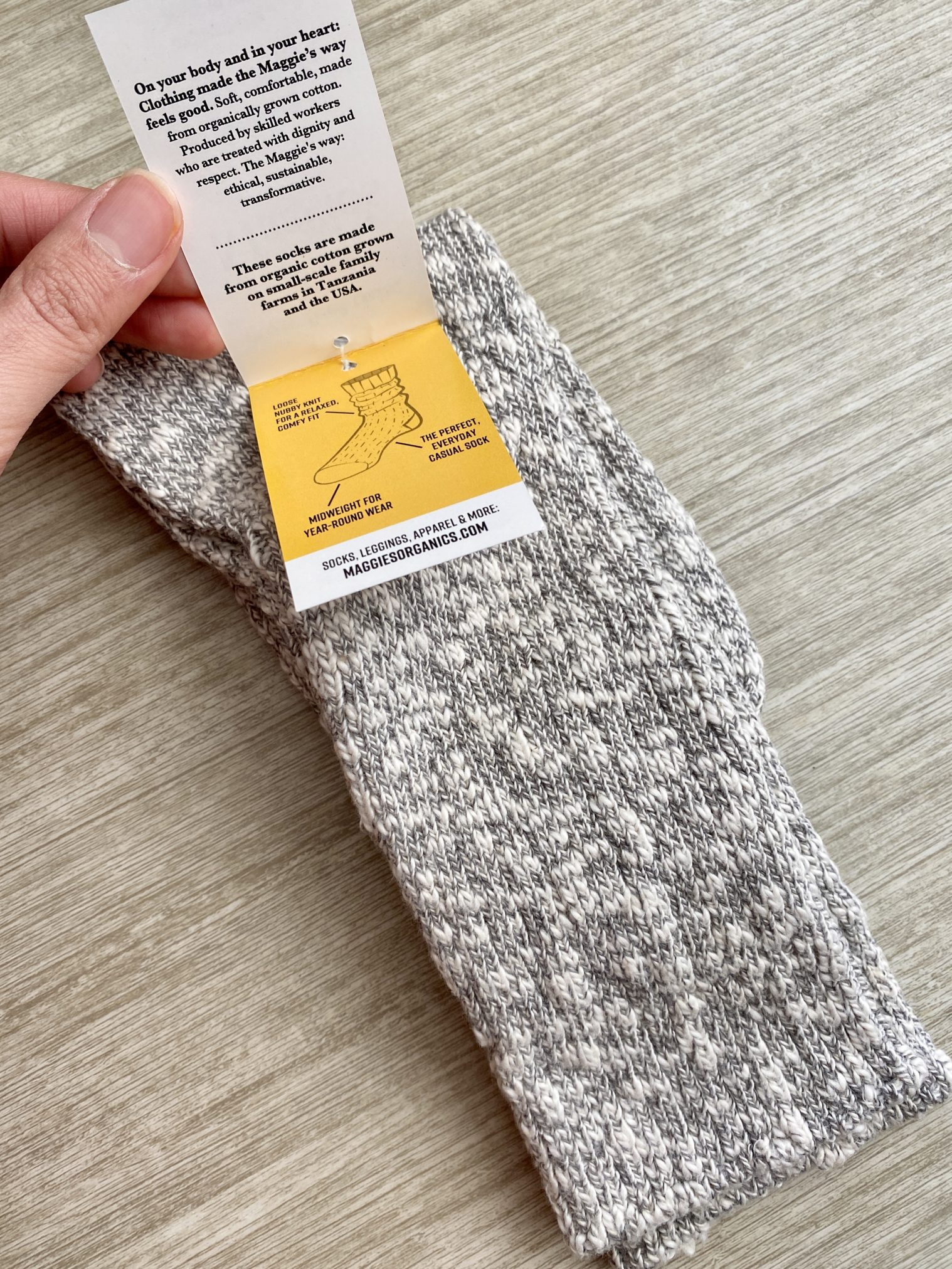 Maggie's Organic Heathered Slouchy Socks - CAUSEBOX Winter 2020 Review