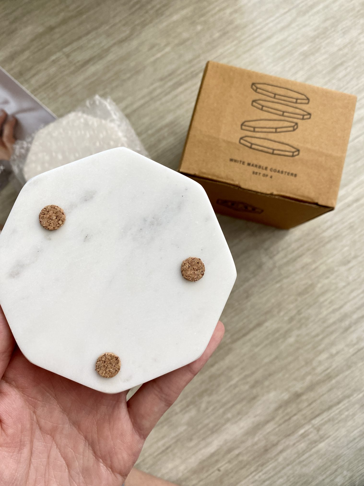 Zeal Living Marble Coasters - CAUSEBOX Winter 2020 Review